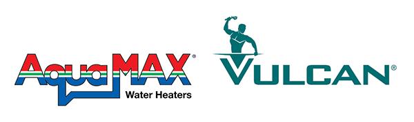 Aquamax & Vulcan Logo lockup